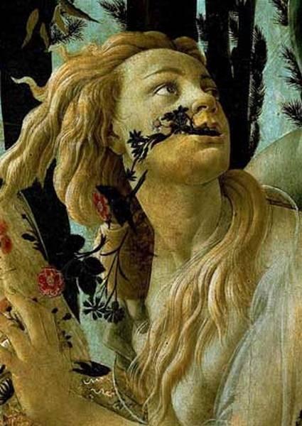 la primavera allegory of spring detail 1477 78 XX galleria degli uffizi florence